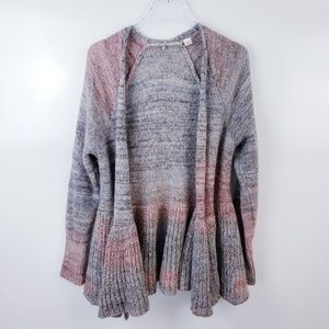 Anthro Knitted & Knotted Cody Peplum Cardigan